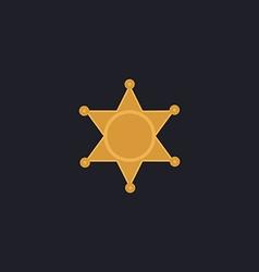 Sheriff star computer symbol vector image vector image