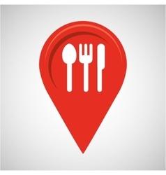 Restaurant concept pin map design vector