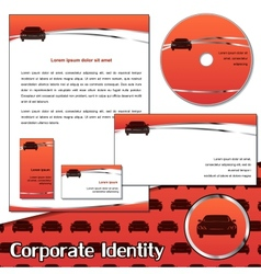 Corporate identity sample for transportation vector image