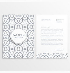 letterhead template with front and back side both vector image