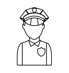 Police officer avatar icon vector