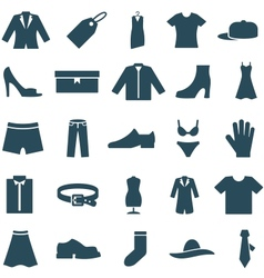 Set icons clothes and accessories vector