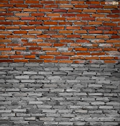 Collection of brick wall background vector image