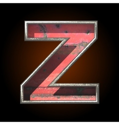 Old metal letter z vector
