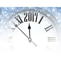2017 winter background with clock vector