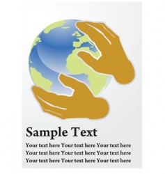 earth care vector image