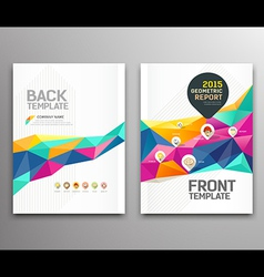 Cover report colorful triangle geometric shapes vector