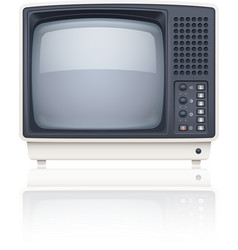 Old style retro tv set icon vector
