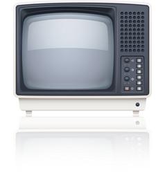 Old style retro tv set icon vector image