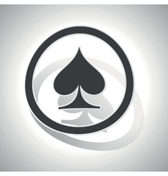 Curved spades sign icon vector