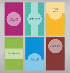 Cards with geometric patterns vector