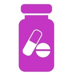 Drugs phial icon vector