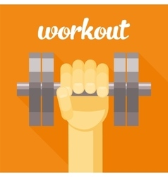 Sport workout  dumbbell in vector