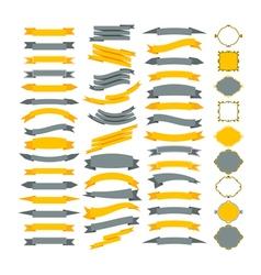 Collection of design elements Big set of frames vector image