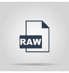 Raw icon concept for design vector
