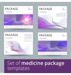 Set of medicine package templates vector