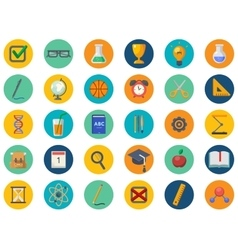 Back to school icons set vector