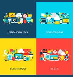 big data concepts vector image vector image