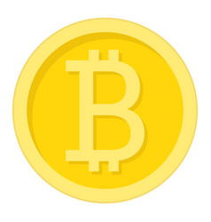 Bitcoin coin flat icon business and finance vector