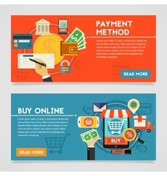 Buy Online And Payment Methods Concept vector image vector image