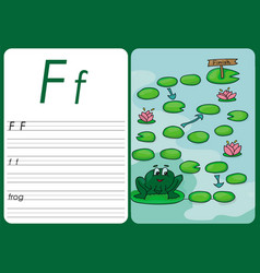 cartoon frog game pages for children vector image vector image