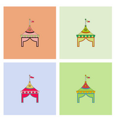Circus tent stock collection vector