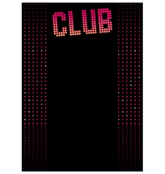 Club dance background vector