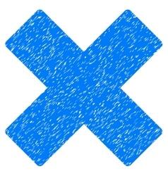Delete x-cross grainy texture icon vector