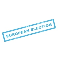 European election rubber stamp vector