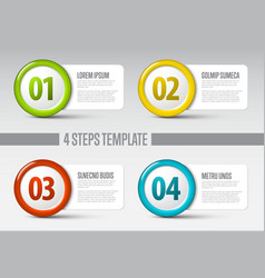 four steps circle template vector image