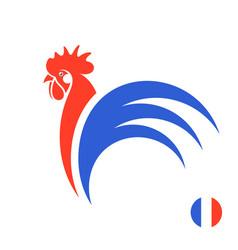 French rooster vector