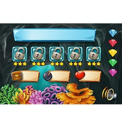 Game template with cave in background vector