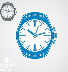 Graphic pocket watch classic detailed watch with vector