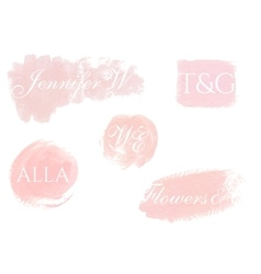 Hand painted design elements for logo vector image vector image