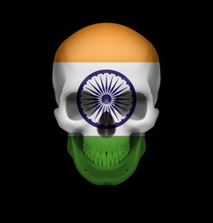 Indian flag skull vector