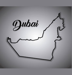 Map of united arab emirates cartoon vector