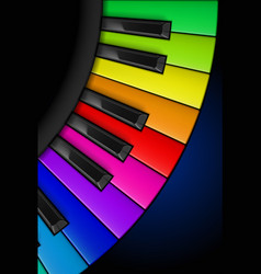 Rainbow piano keys vertical for design vector