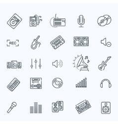Recording media icon set vector