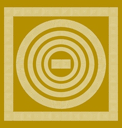 Round and rectangular classical roman or greek vector