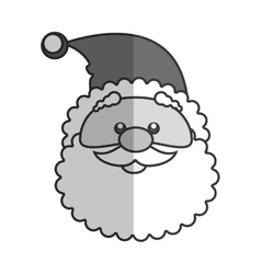 santa claus character kawaii style vector image vector image