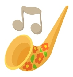 Saxophone icon cartoon style vector