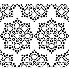 Seamless pattern aboriginal dot painting vector