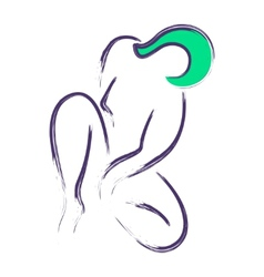 Sitting woman icon vector image vector image