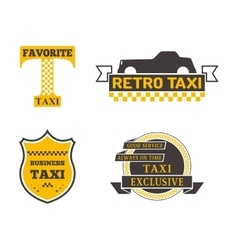 Taxi badge vector image vector image