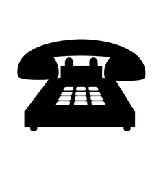 telephone handset call vector image vector image