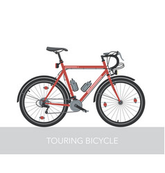 Trekking bicycle configuration vector