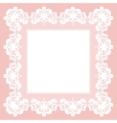 White lace napkin vector image