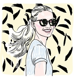 Hand painted sketch fashion vector