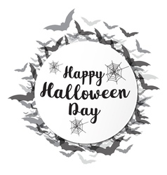 Happy halloween calligraphy vector