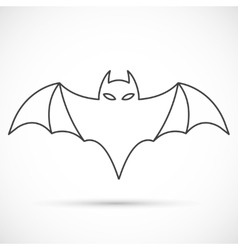 Bat outline icon vector